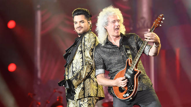Adam Lambert and Brian May of Queen perform onstage during the 2019 Global Citizen Festival: Power The Movement in Central Park
