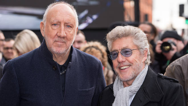 Roger Daltrey and Pete Townshend from The Who attend the Music Walk Of Fame Founding Stone Unveiling at The Jazz Cafe on November 19, 2019
