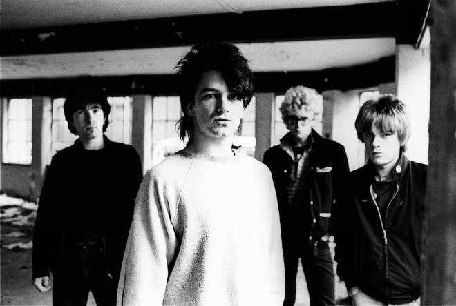 U2 in 1980:  The Edge, Bono, Adam Clayton, Larry Mullen Jnr