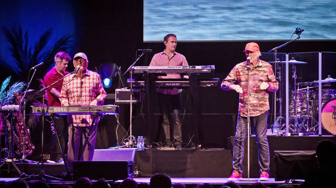 Bruce Johnston and Mike Love of The Beach Boys perform live on stage during a concert at the Verti Music Hall on July 16, 2019 in Berlin