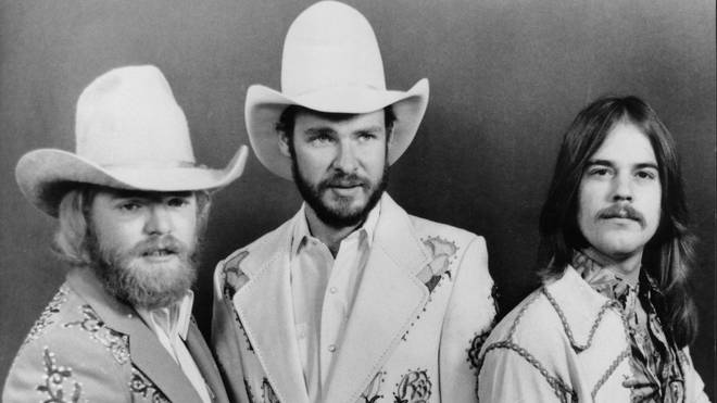 Dusty Hill, Billy Gibbons, Frank Beard of ZZ Top in 1975