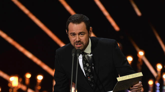 Danny Dyer presents an award at the National Television Awards in 2017