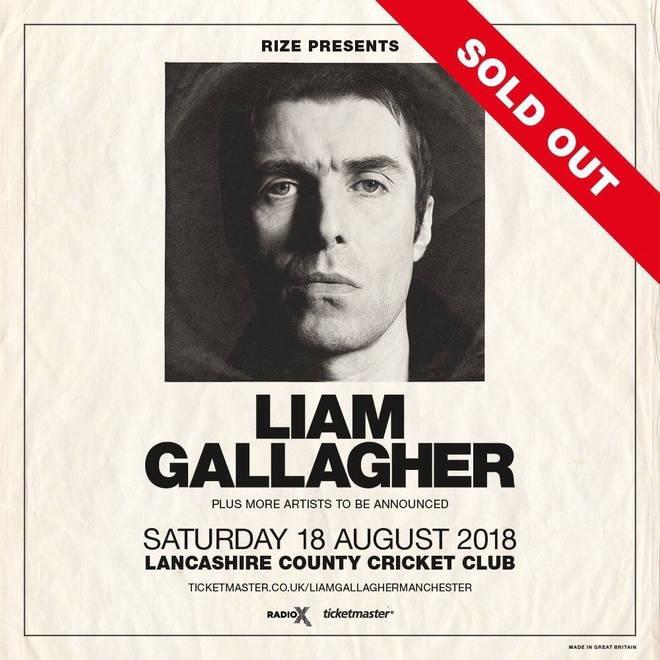 Liam Gallagher Old Trafford Poster