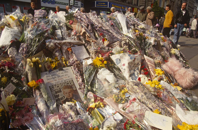 IRA Warrington bombing memorial outside Boots in Warrington, Cheshire  on 27th February 1993