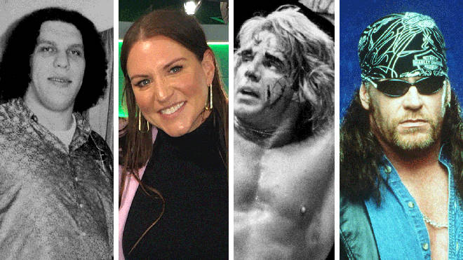 Andre The Giant, WWE's Stephanie McMahon, Ultimate Warrior and The Undertaker