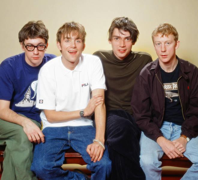 Blur in 1995: Graham Coxon, Damon Albarn, Alex James and Dave Rowntree