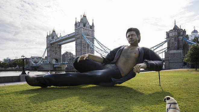 Jeff Goldblum statue in London, 17 July 2018