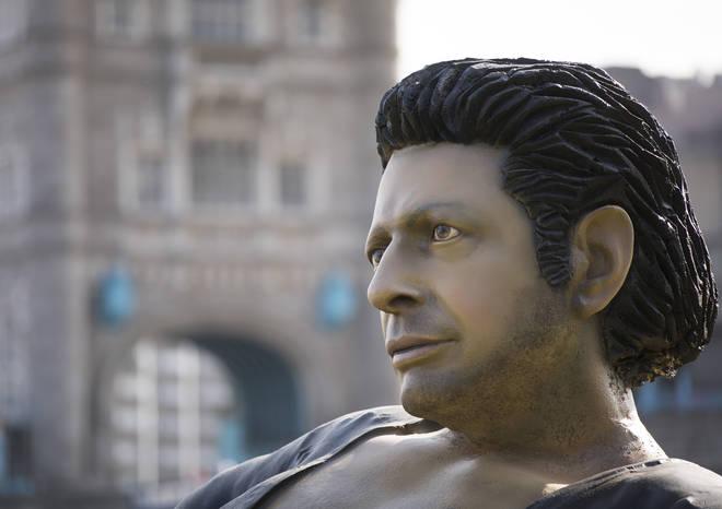 Jeff Goldblum statue in London