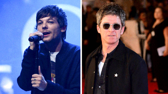 Former One Direction star Louis Tomlinson and Noel Gallagher