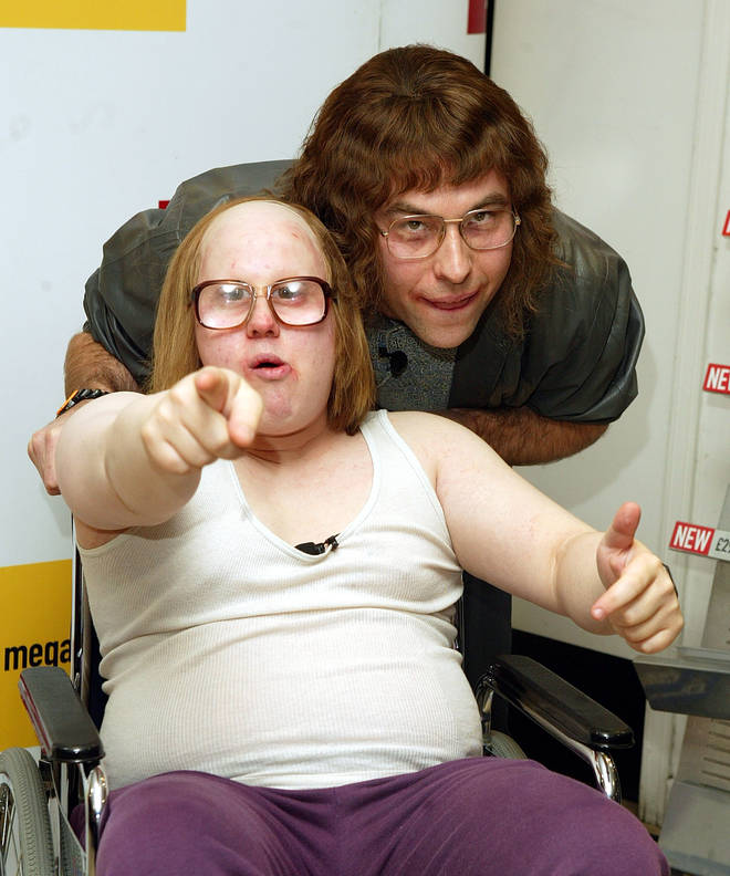 David Walliams and Matt Lucas at a signing and photo Call for Little Britain in 2004