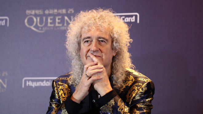 Queen's Brian May attends the press conference ahead of the Rhapsody Tour at Conrad Hotel on January 16, 2020 in Seoul