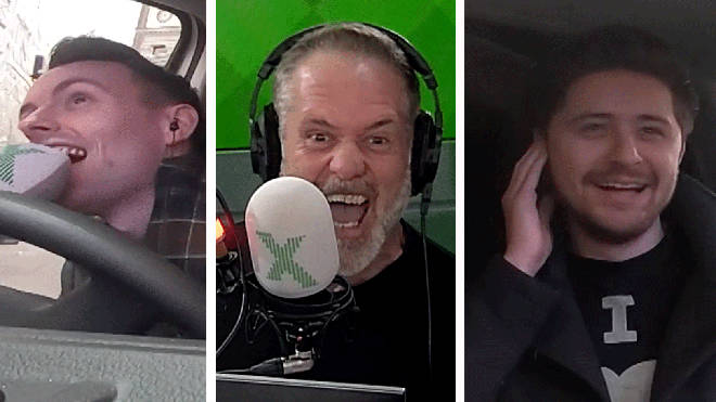 James Robinson, Chris Moyles and Joe Attewell