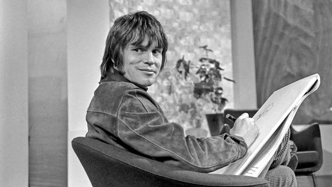 A young Terry Gilliam as in-house cartoonist on the TV programme We Have Ways Of Making You Laugh