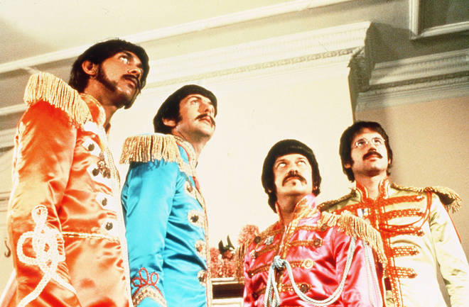 The Rutles: Rikki Fataar, Eric Idle, John Halsey and Neil Innes