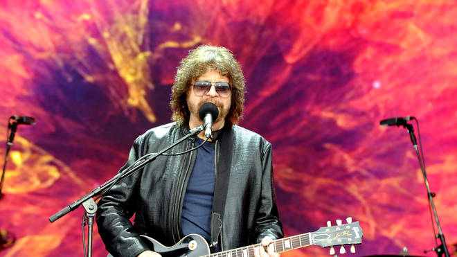 Jeff Lynne's ELO performs on The Pyramid Stage at Glastonbury Festival 2016