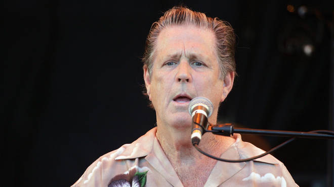 Brian Wilson performs on the third and final day of the Glastonbury Music Festival 2005