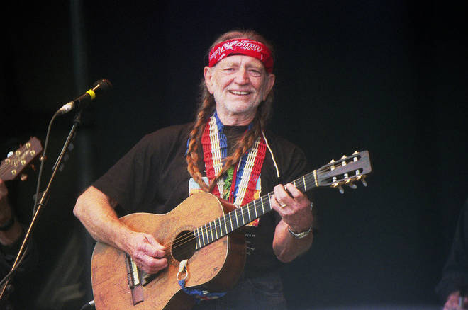 Willie Nelson Performs At The Glastonbury Festival In 2000