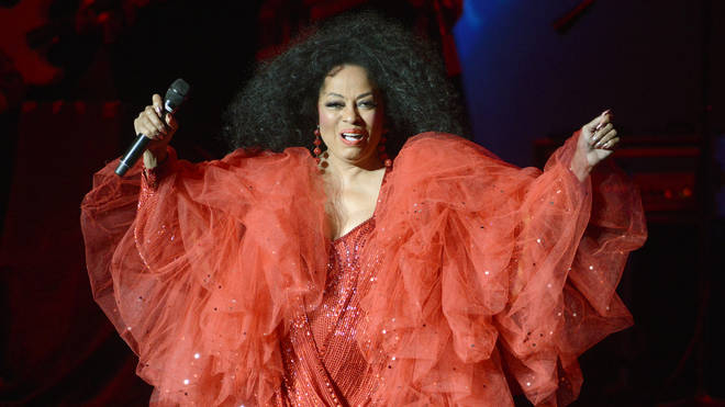 Diana Ross performing live in 2013