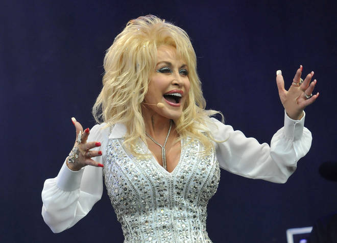 Dolly Parton performs on the Pyramid stage during day three of the Glastonbury Festival  2014