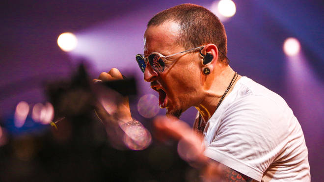 Chester Bennington performs in 2017