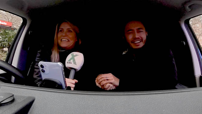 Pippa and Matt find out where they are driving The Chris Moyles Show Prize Dump