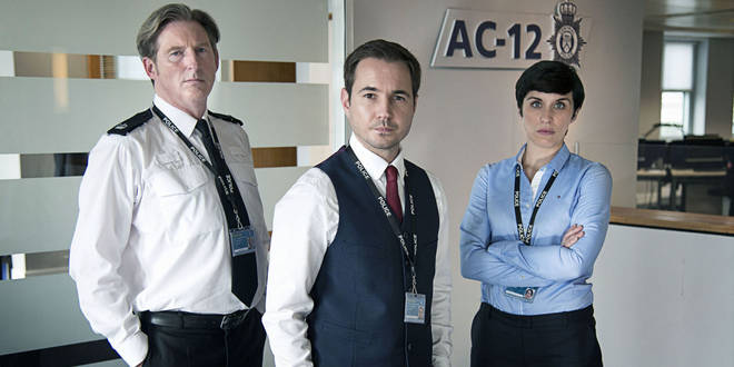 Line of Duty stars Adrian Dumbar, Vicky McClure and Martin Compston