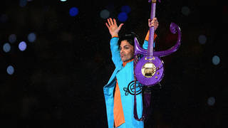 "Prince performs during the ""Pepsi Halftime Show"" at Super Bowl XLI  in 2007"