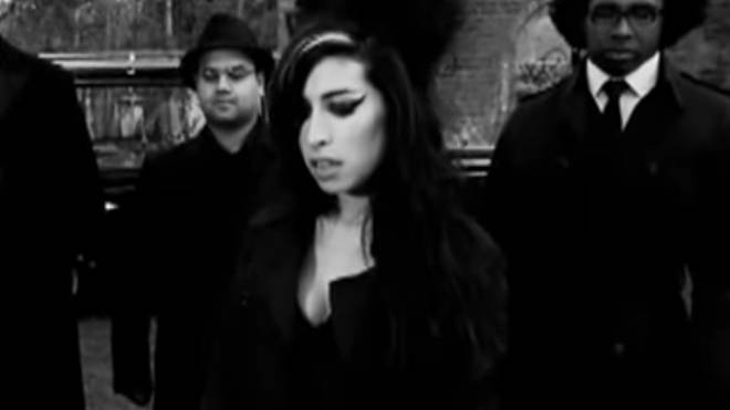 Amy Winehouse in her Back To Black video