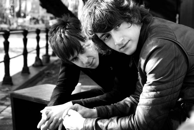 Miles Kane and Alex Turner in Amsterdam, 2008