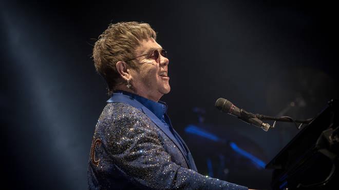 Elton John performing in 2015