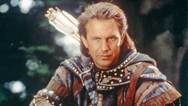 Kevin Costner in Robin Hood: Prince Of Thieves, 1991
