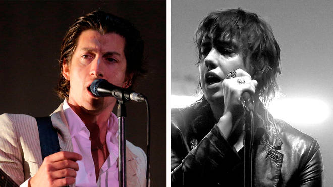 Arctic Monkeys' Alex Turner and The Strokes' Julian Casablancas