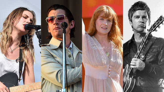 Wolf Alice's Ellie Rowsell, Arctic Monkeys' Alex Turner, Florence + The Machine's Florence Welch & Noel Gallagher
