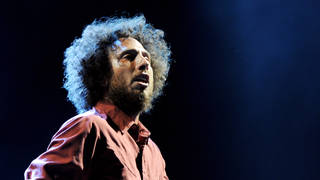 Zack de la Rocha of Rage Against the Machine