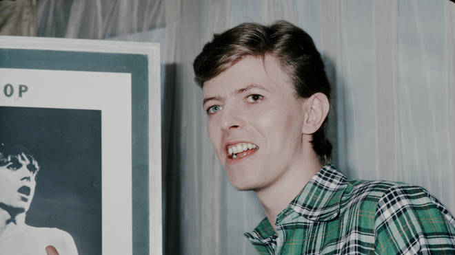 David Bowie getting interviewed in a hotel, Tokyo, April 1977.