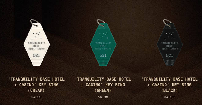 Tranquility Base Hotel & Casino keyrings