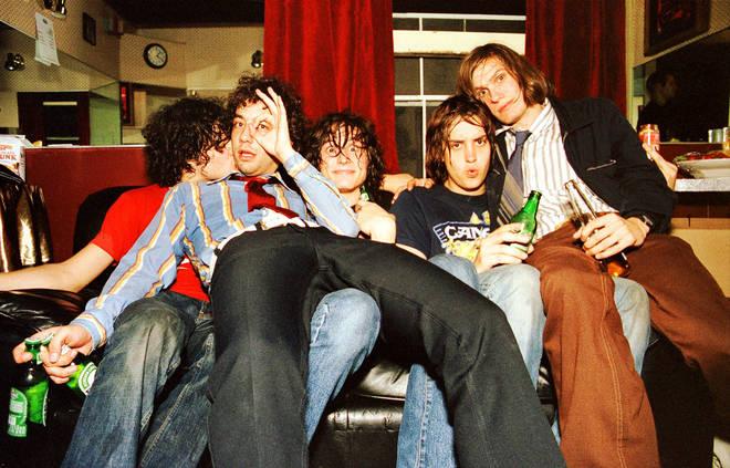 The Strokes in 2001: Fabrizio Moretti, Albert Hammond Jr, Nick Valensi, Julian Casablancas and Nikolai Fraiture