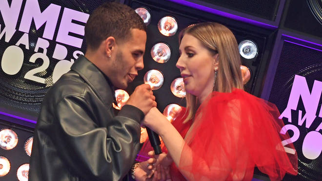 Slowthai and Katherine Ryan attend NME Awards 2020 - Inside Ceremony