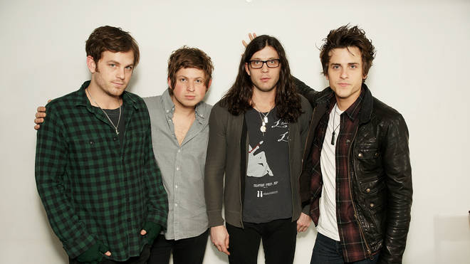 Caleb Followill, Matthew Followill , Nathan Followill and Jared Followill of Kings of Leon in 2008