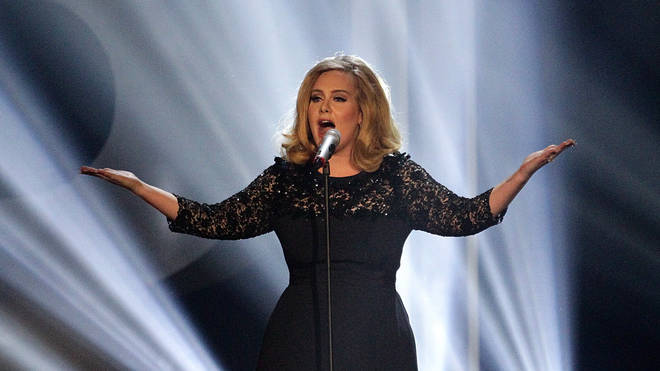 Adele during the 2012 Brit awards at The O2 Arena,