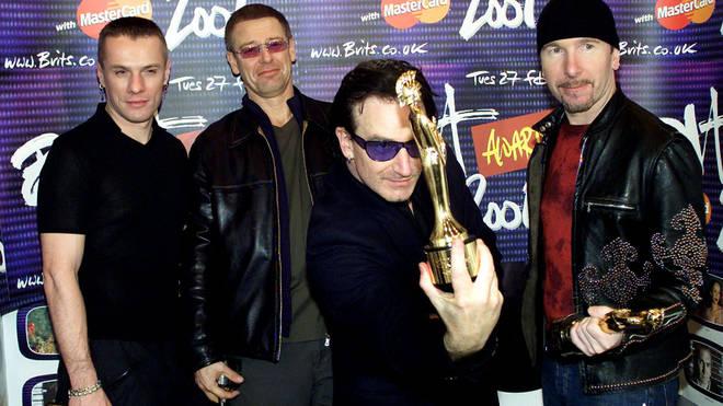 U2 at the BRIT Awards 2001