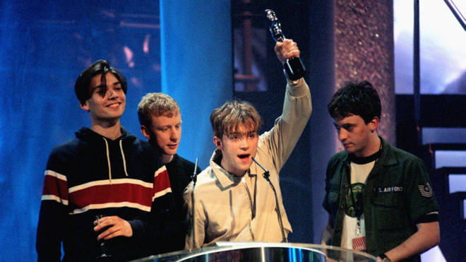 Blur win a Brit Award for Top British Artists of the year 1995