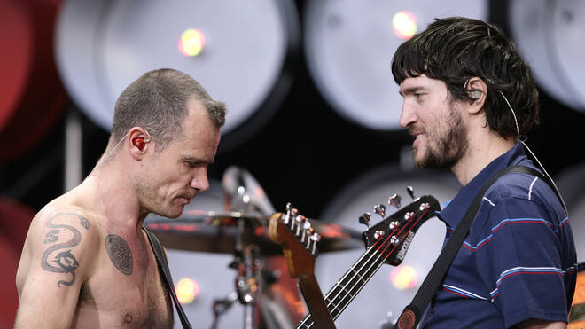 Red Hot Chili Peppers' Flea and John Frusciante perform in 2007