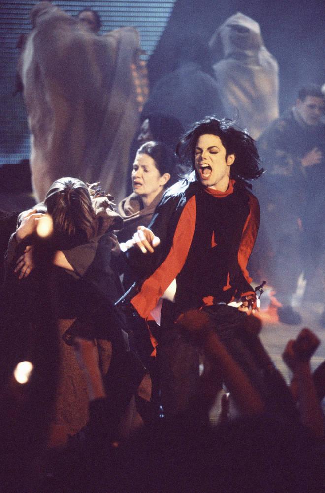 Michael Jackson at the BRIT Awards 1996