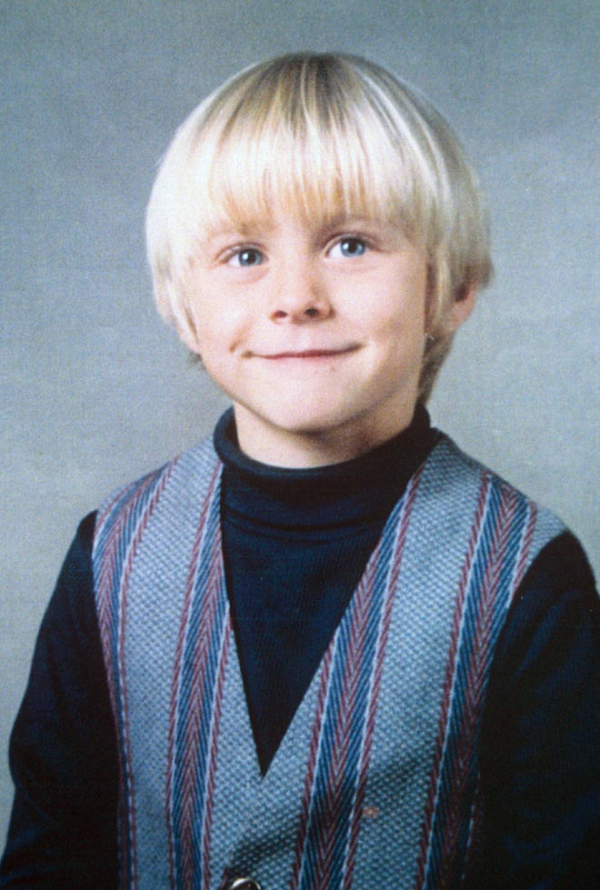 Kurt Cobain as a young boy