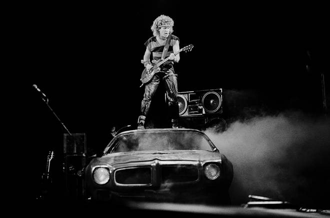 Sammy Hagar at the UIC Pavilion, Chicago, Illinois, March 11,1983.