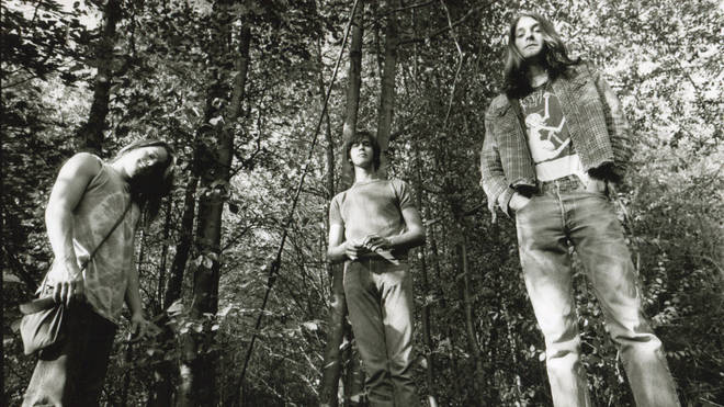Nirvana in Seattle, circa 1990: Chad Channing, Krist Novoselic, Kurt Cobain.