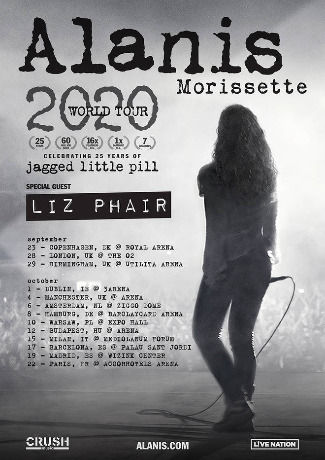 Alanis Morissette announces more UK and European Jagged Little Pill 25th anniversary dates