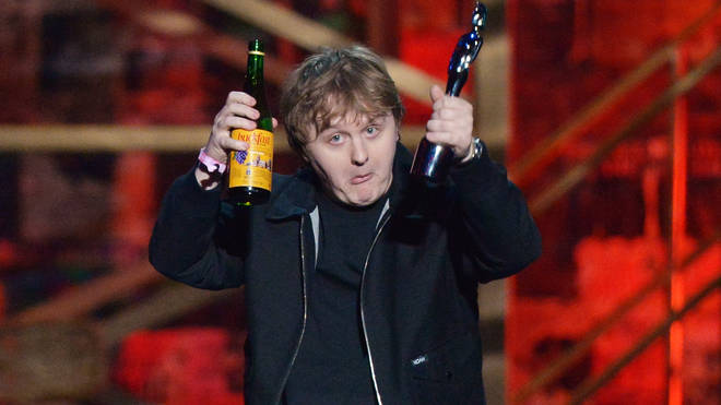 Lewis Capaldi picks up the award for Song of the Year at The BRIT Awards 2020