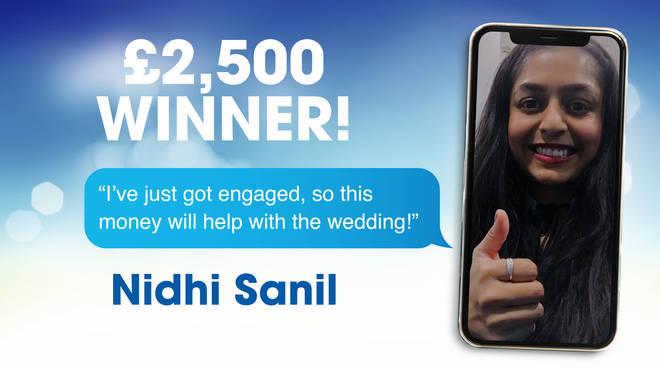 £2,5000 winner